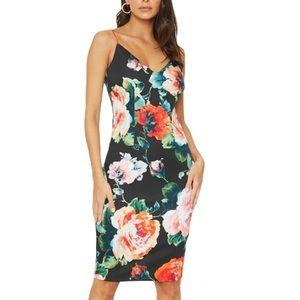 Black Halo Amorie Floral Print Sheath Dress